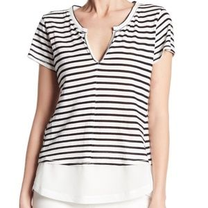 Sanctuary Striped Linen City Mix Striped Tee